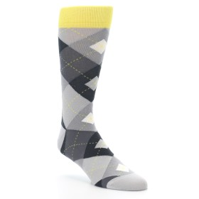 Grey Argyle Wedding Socks - Statement Sockwear