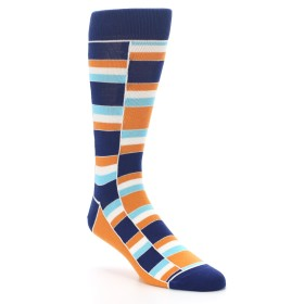 Navy Orange Men's Socks - Denver Broncos Colors