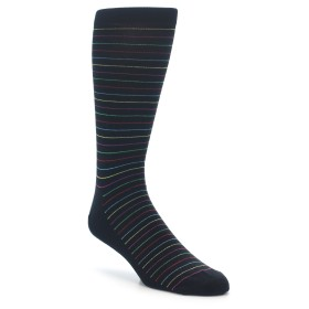 Happy Socks Extra Large Black Stripe Socks