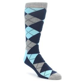 22275-Grey-Blue-Argyle-XL-Mens-Dress-Socks-Happy-Socks01