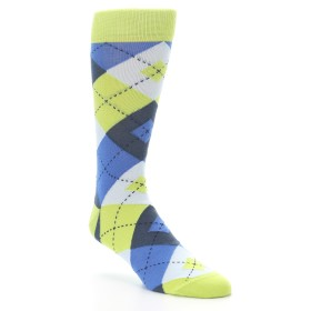 Lime Green Argyle Socks - Statement Sockwear