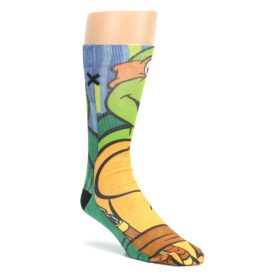 Ninja-Turtles-Michelangelo-Mens-Casual-Socks-Odd-Sox