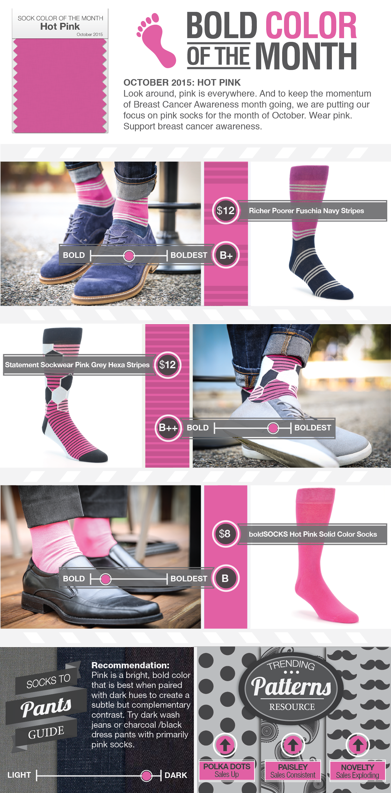 Sock Color of the Month - Pink Post