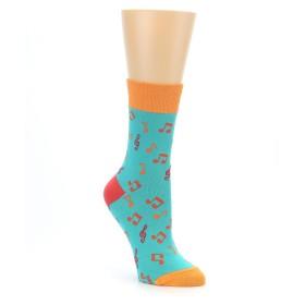 22396-Green-Orange-Red-Music-Notes-Womens-Dress-Socks-Good-Luck-Sock01