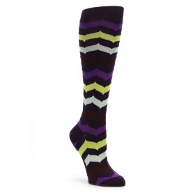 Mod Sock Chevron Knee Socks Purple