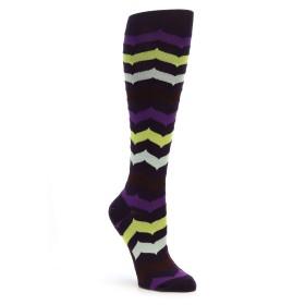 Mod Sock Chevron Knee Socks Purple