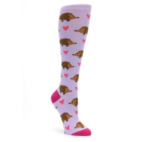 Hedgehog Hearts Knee Socks