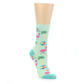 22367-Green-Pink-Tropical-Florida-Womens-Dress-Sock-Sock-It-To-Me01