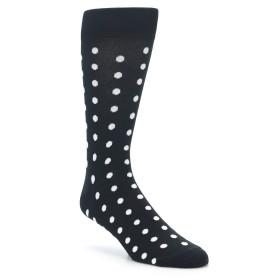 Black White Polka Dot Groomsmen Wedding Socks