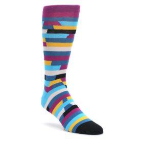 Purple-Blue-Digi-Stripe-Mens-Dress-Socks-Ballonet-Socks