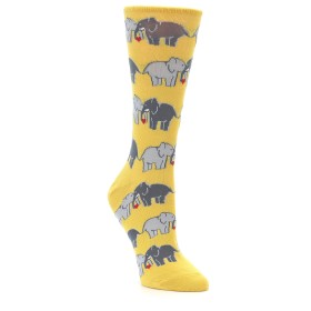 22625-Yellow-Grey-Elephants-Womens-Dress-Socks-Socksmith-Socks-Socksmith01