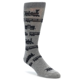 Grey Train Socks for Men