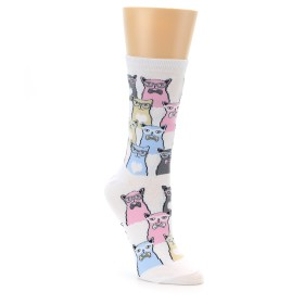 Women's Novelty Cat w/ Glasses Socks