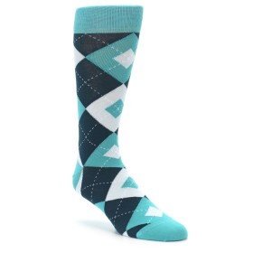 Teal Argyle Wedding Socks by Statement Sockwear