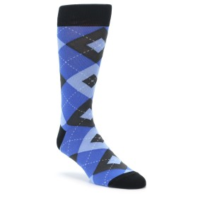 Blue Argyle Wedding Groomsmen Socks by Statement Sockwear