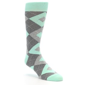 Mint Argyle Men's Groomsmen Socks