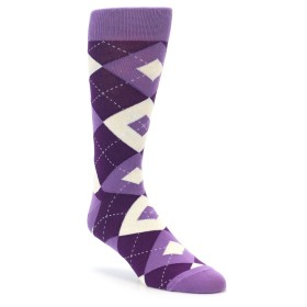 Wisteria and Plum Argyle Wedding Socks