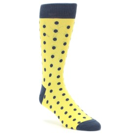 Yellow and Grey Polka Dot Wedding Socks