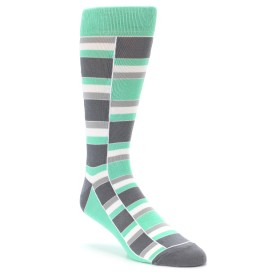 Green and Grey Groomsmen Wedding Socks