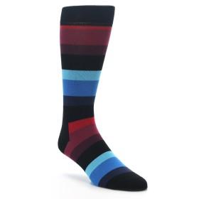 King Size Happy Socks Black Red Stripe