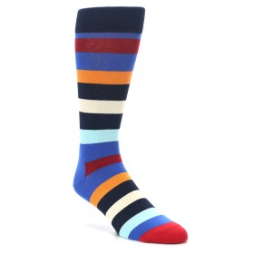 King Size Blue Happy Socks Striped