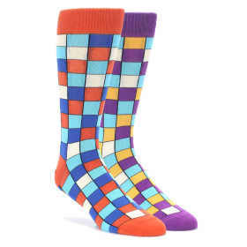 Orange and Purple 2 Pack Gift Box by Statement Socks