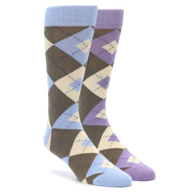 Brown Argyle Socks 2 Pack