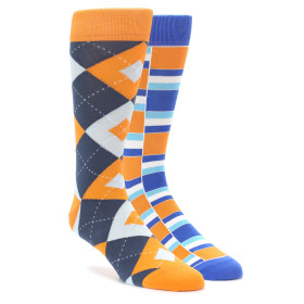 Orange and Blue Sock 2 Pack by Statement Sockwear