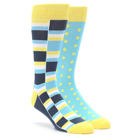 Yellow and blue sock 2 pack