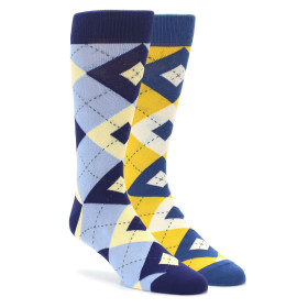 Blue Yellow Argyle Socks 2 Pack