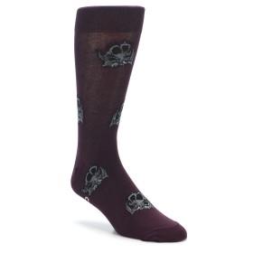 Men's Triceratops Dinosaur Socks by Good Luck