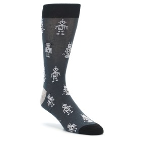 Grey Robot Novelty Socks by Good Luck