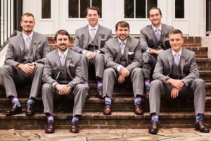 Iris and Wisteria Wedding Socks