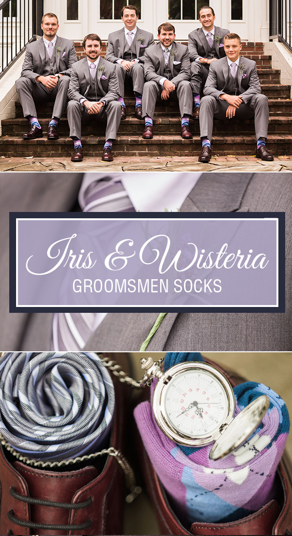 Iris and Wisteria Wedding Socks