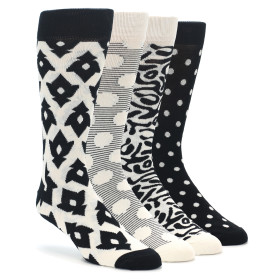 Happy Socks Black White Gift Box 4 Pack
