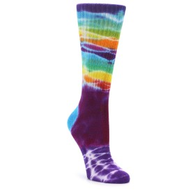 Women's Purple Tie Dye Socks in Bamboo