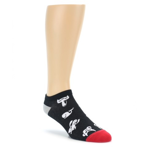 black white monsters men�s ankle socks good luck sock