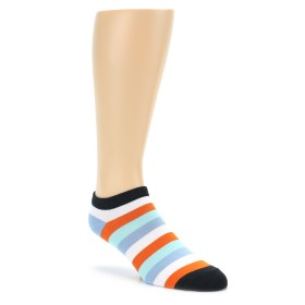 Orange Stripe Ankle Socks by Good Luck