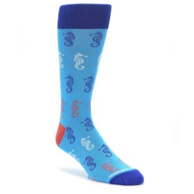 22802-Blue-Sea-Horses-Mens-Dress-Socks-Unsimply-Stitched1