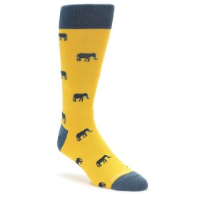 Yellow Elephants Socks by Unsimply Stitched