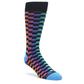 Multi Color Checkered Socks