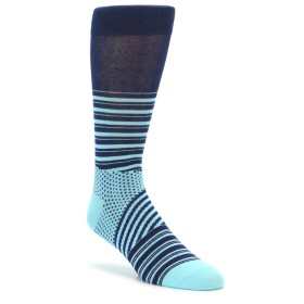 Richer Poorer Curio Stripe Socks Blue and Cyan