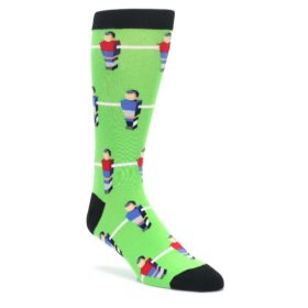 Green-Blue-Red-Foosball-Players-Mens-Dress-Socks-K.-Bell-Socks