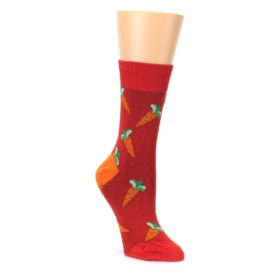 red orange green womens dress socks by Good Luck Sock