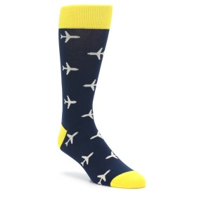 Navy Airplane Socks by boldSOCKS