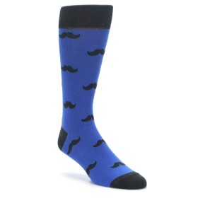 Royal Blue Mustache Socks by boldSOCKS