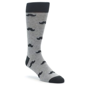 Grey Mustache Socks by boldSOCKS