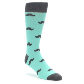 Spa Green Mustache Wedding Socks by boldSOCKS