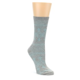 22777-Grey-Aqua-Diamond-Pattern-Womens-Dress-Socks-Richer-Poorer01