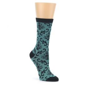 Women's Teal Brocade Pattern Socks by Socksmith